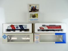 A pair of American Outline diesel locomotives by ROCO (one branded E-R MODELS), together with a