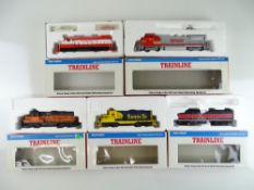 A group of American Outline diesel locomotives by WALTHERS TRAINLINE - G/VG in G boxes (5)