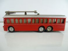 A rare RIVAROSSI MinoBus motorised trolleybus in red livery - unboxed - G