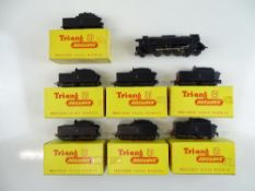 A TRI-ANG TT Gauge Continental Outline French Pacific steam locomotive - unboxed with some damage to
