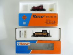 A pair of European Outline small diesel shunting locomotives by ROCO - G/VG in F/G boxes (2)
