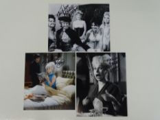 CARRY ON - A group of three signed BARBARA WINDSOR 10x8 photographs (one colour, two black/white)