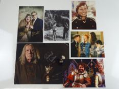 A group of signed colour and black/white photographs of television actors comprising: GIL GERARD,