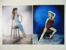 "BRIGITTE BARDOT - A pair of signed 10"" x 8"" colour publicity photographs - item has been"