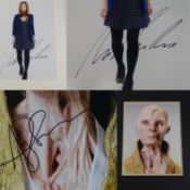 A pair of signed and mounted photographs comprising JENNA COLEMAN and ANDY SERKIS (2) - this has