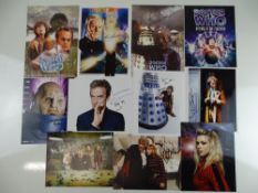 DOCTOR WHO: A large selection of signed photographs (10x8 (8) and 12x8 (3)) - including TOM BAKER (x