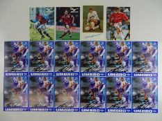FOOTBALLERS: Selection of signed photographs