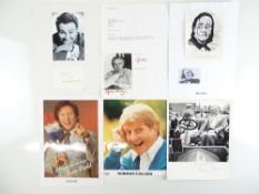 COMEDY - A selection of signed photographs and cards comprising MAX WALL, NORMAN COLLIER, SPIKE