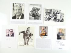 COMEDY - A selection of signed photographs and cards comprising ERIC SYKES, NORMAN COLLIER, BILL