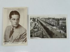 A signed black/white 6 x 4 postcard: IVOR NOVELLO (composer and actor) - this has been independently