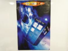 DR WHO: A multi-signed promotional poster to include TERRY MOLLOY (Davros) - this has been