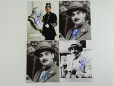 DAVID SUCHET - A group of signed black/white and colour photos of DAVID SUCHET in various roles (