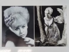 BARBARA WINDSOR - A pair of signed 10x8 black/white photographs (2) - these have been