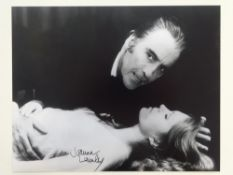 A group of three JOANNA LUMLEY signed 10x8 photographs from THE SATANAIC RITES OF DRACULA - this has