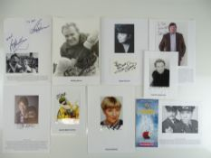 A group of signed photographs and cards comprising JOHN BISHOP, DAWN FRENCH, STEPHEN FRY,