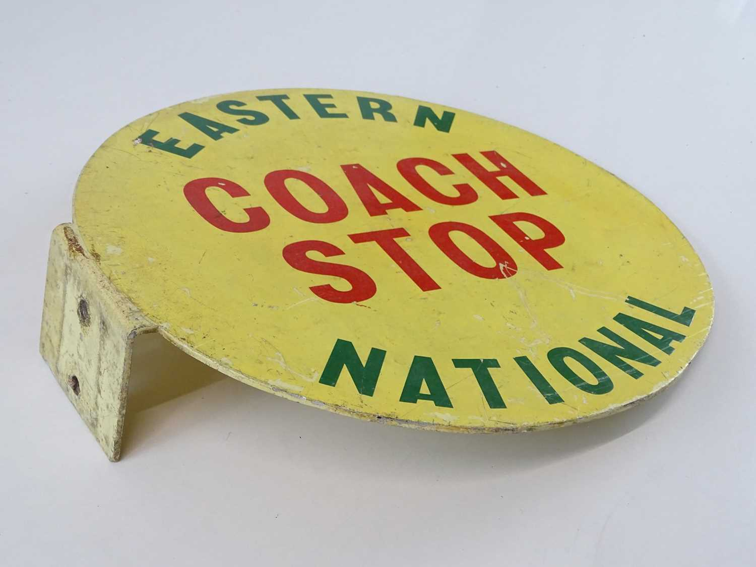 """A flanged Eastern National Coach Stop flag in aluminium (12"""" diameter) - Image 2 of 3"""