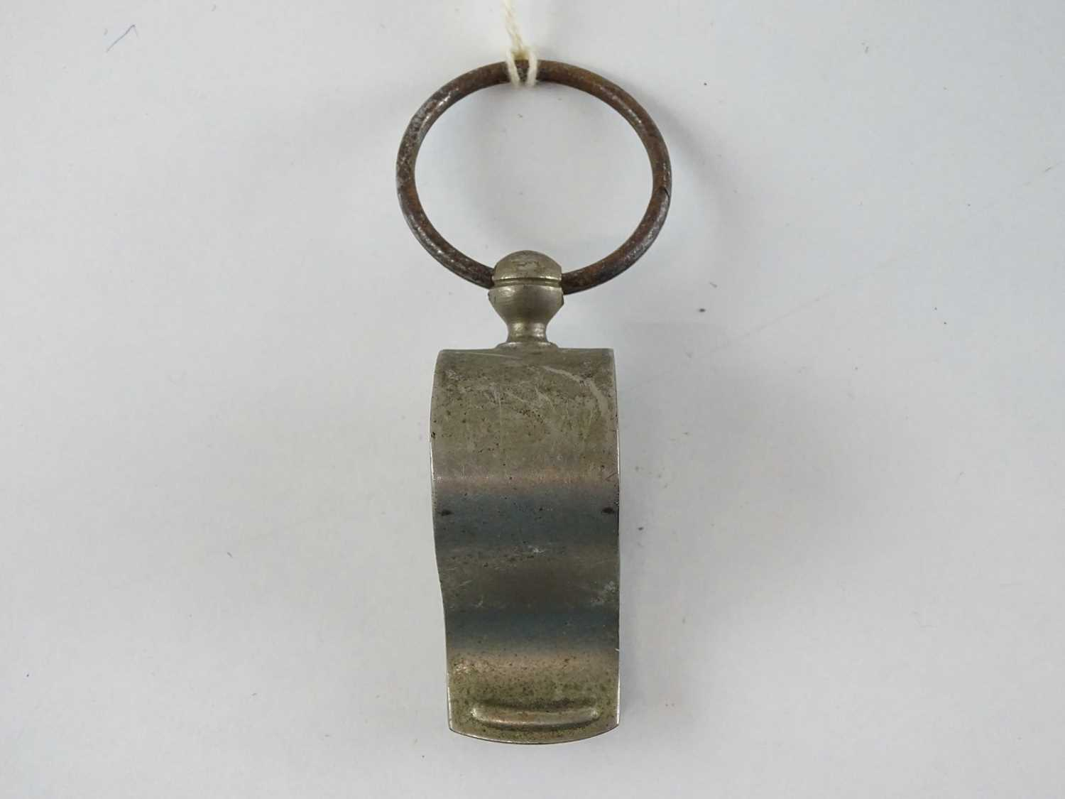 A Thunderer Patent nickel plated whistle - stamped for North British Railways