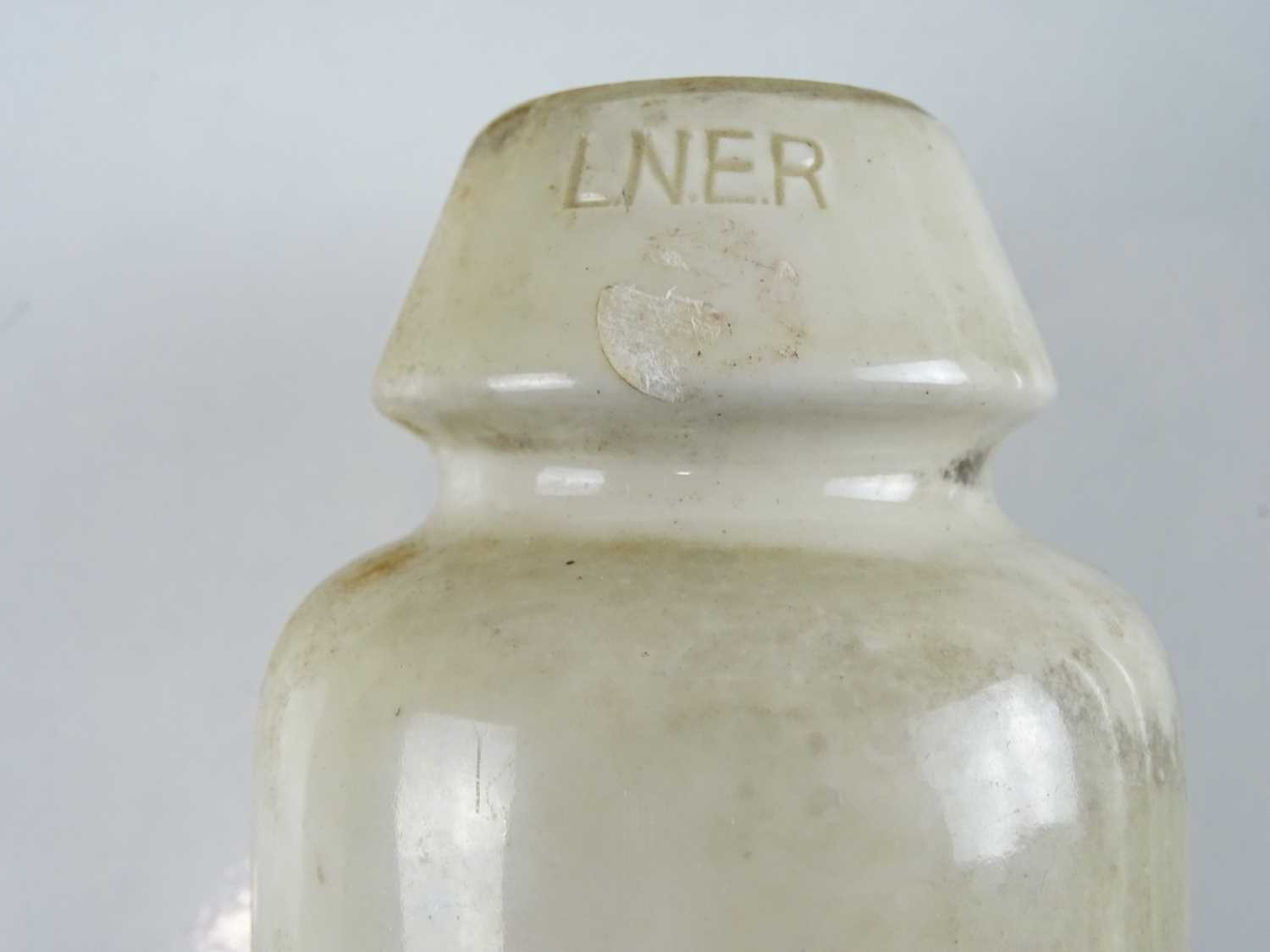 A group of railway related tools and accessories to include an LNER ceramic insulator pot (4) - Image 2 of 3