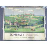 BRITISH RAILWAYS (circa 1950) - 'SOMERSET' By British Railways - Artist: Herbert Alker Tripp -