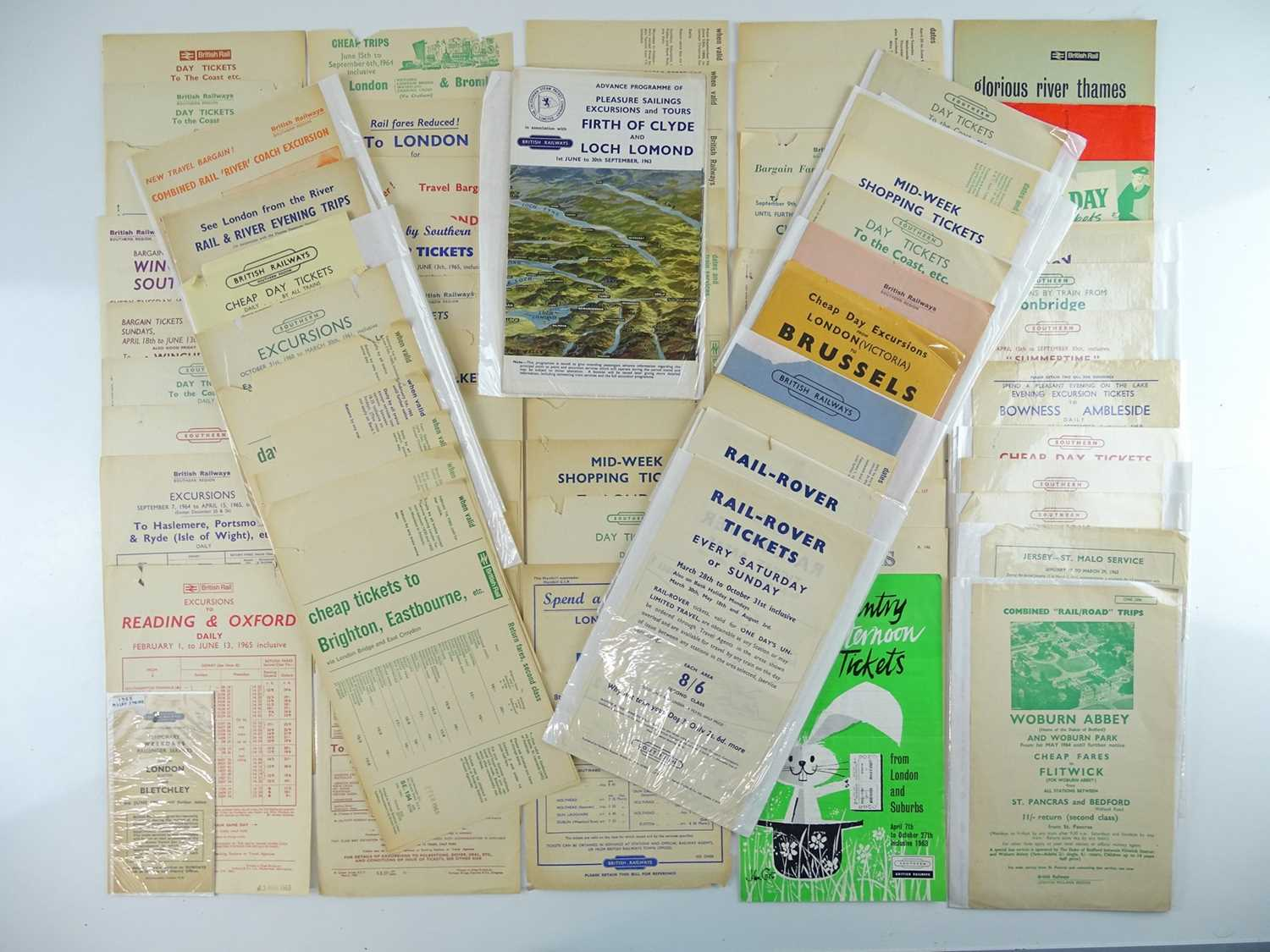 A large quantity of British Railways excursion pamphlets dating from 1950s/60s circa 50+