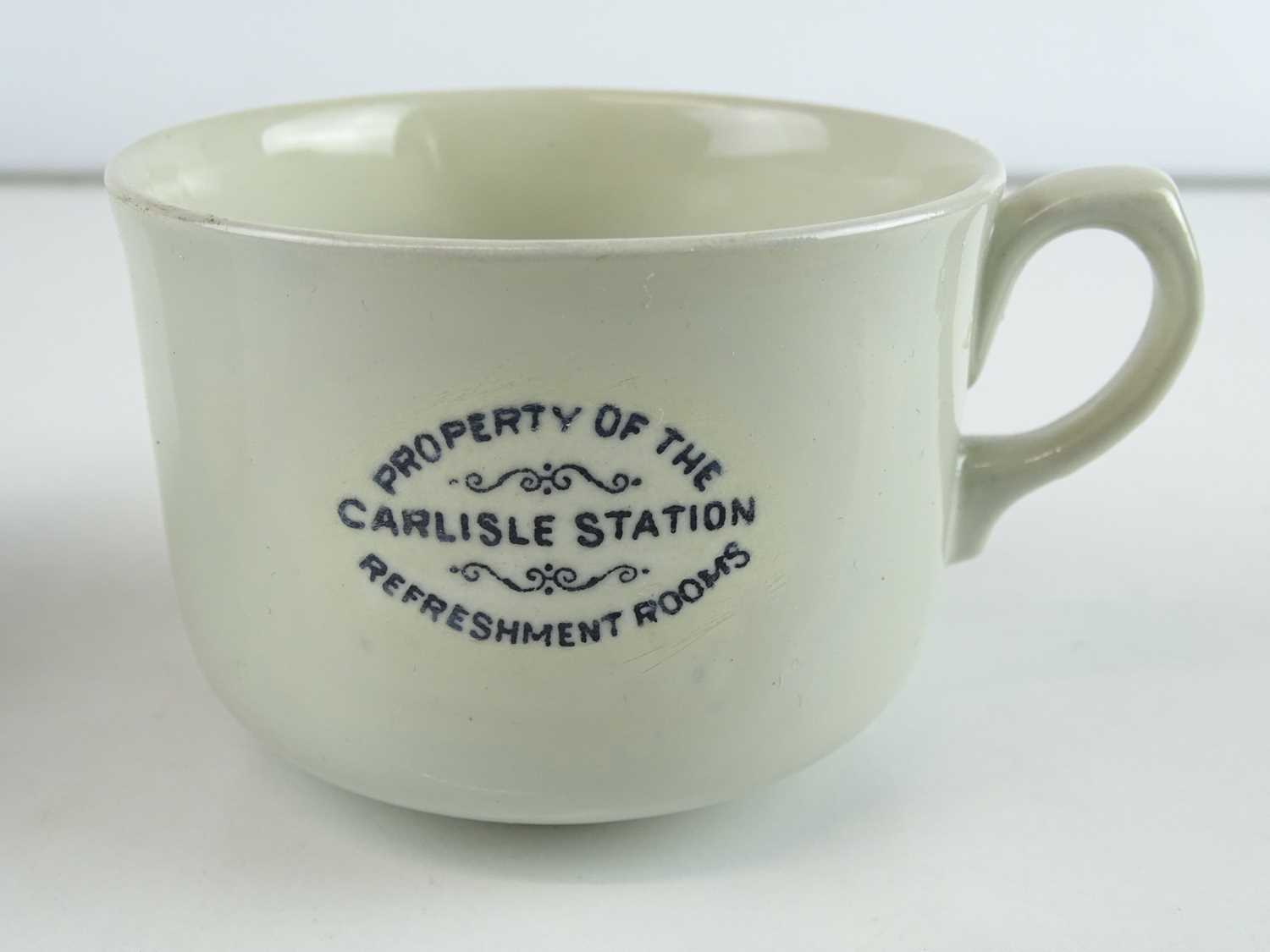 A group of early railway crockery items comprising 2 x L&NWR teapots (one marked Crewe), an LNWR - Image 5 of 8