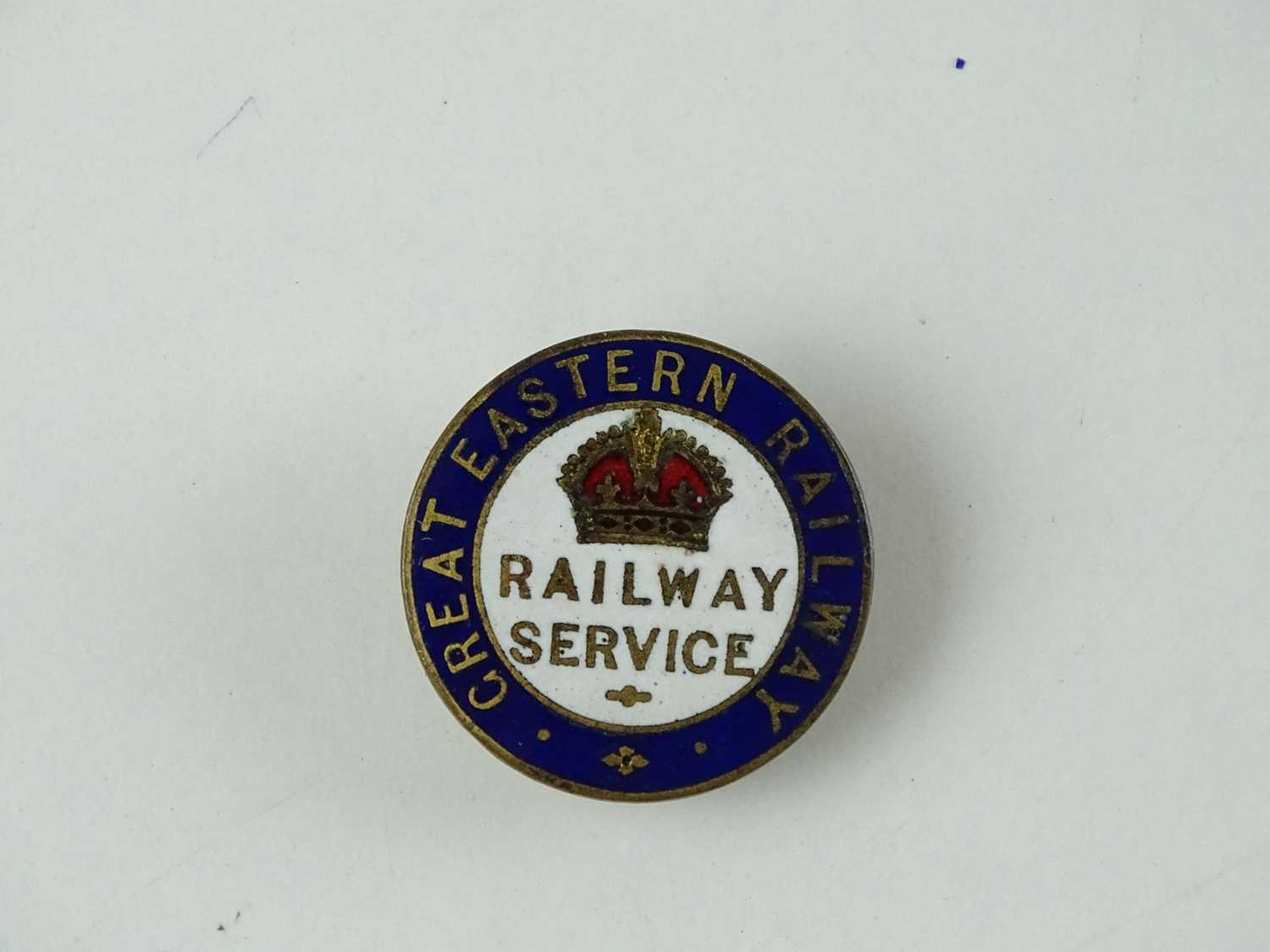 A Great Eastern Railway WW1 Railway Service Badge - stamped to rear 'J A Wylie' and numbered N10410