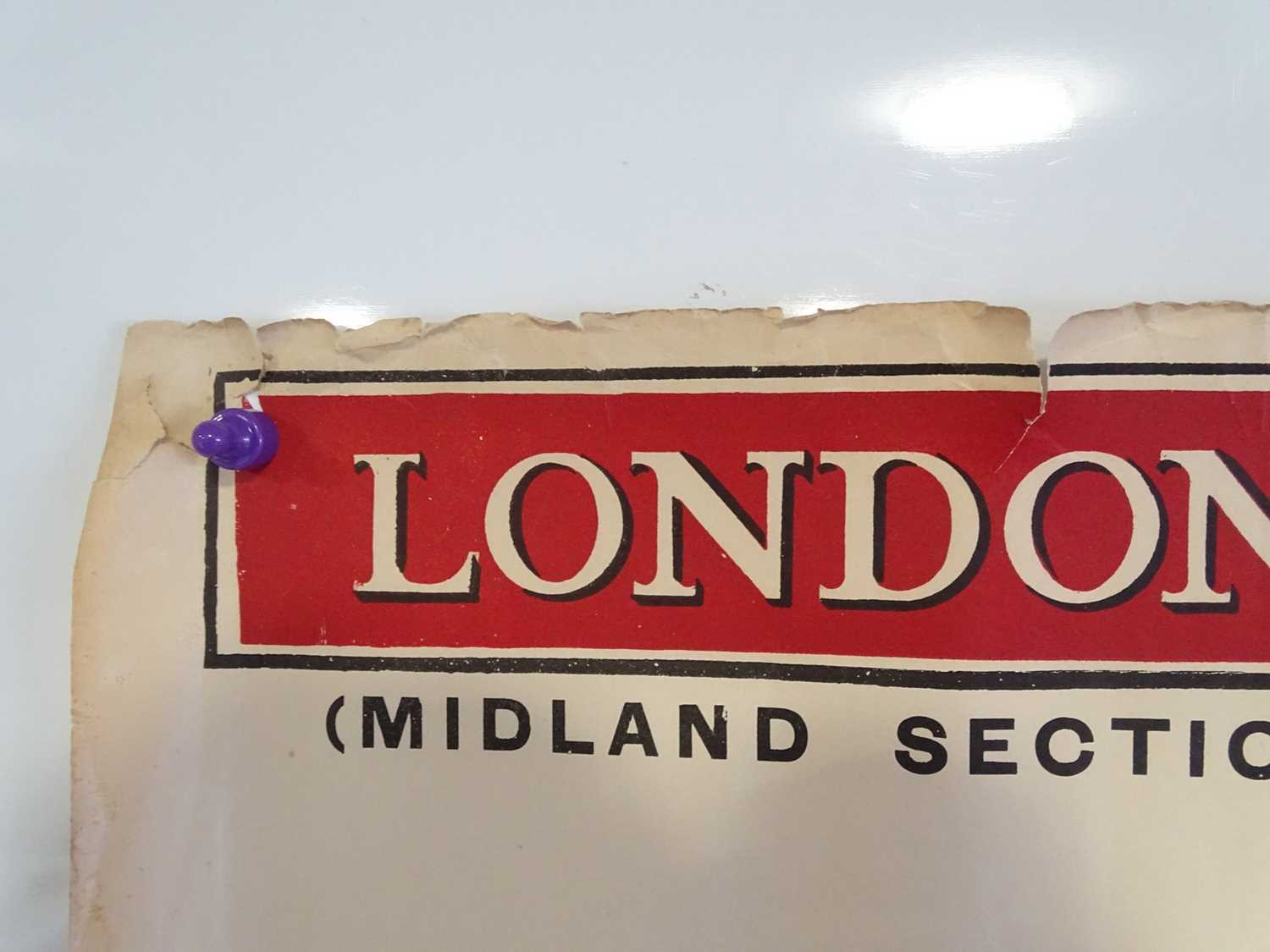 LONDON, MIDLAND and SCOTTISH RAILWAY Mainline (Midland Section) Timetable posters - July 8th - - Image 2 of 15