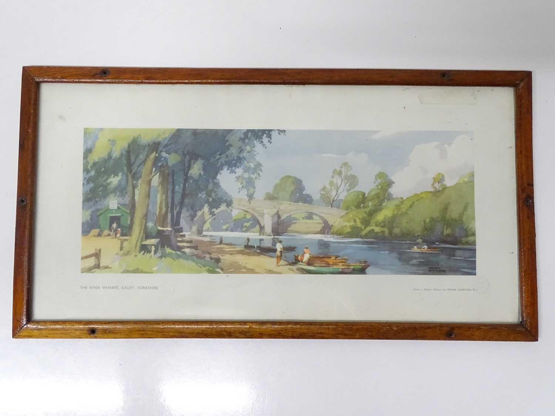 "A BR London Midland Region carriage print (21"" x 11"") 'River Wharf at Ilkley' by Frank Sherwin -"