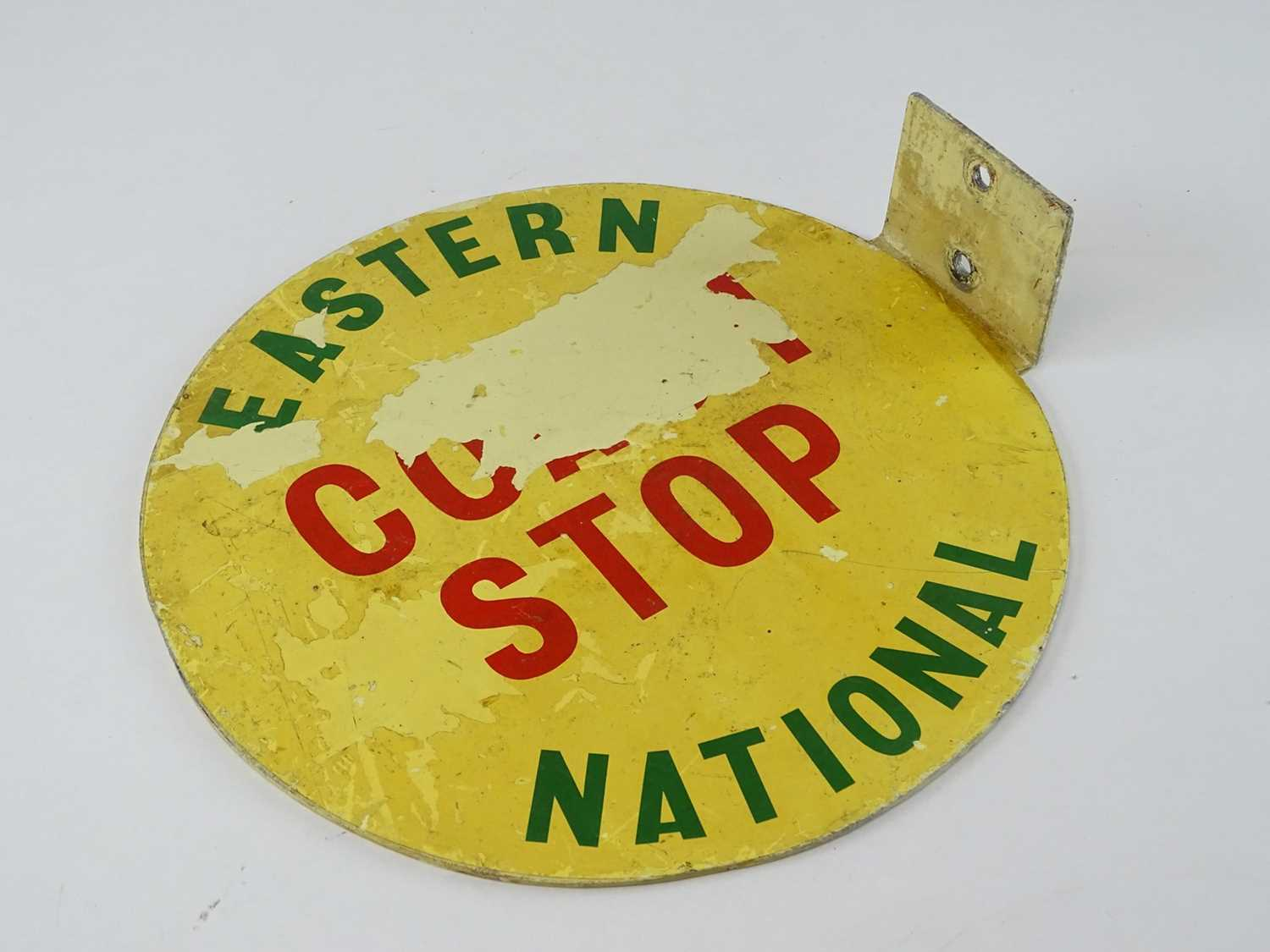 """A flanged Eastern National Coach Stop flag in aluminium (12"""" diameter) - Image 3 of 3"""