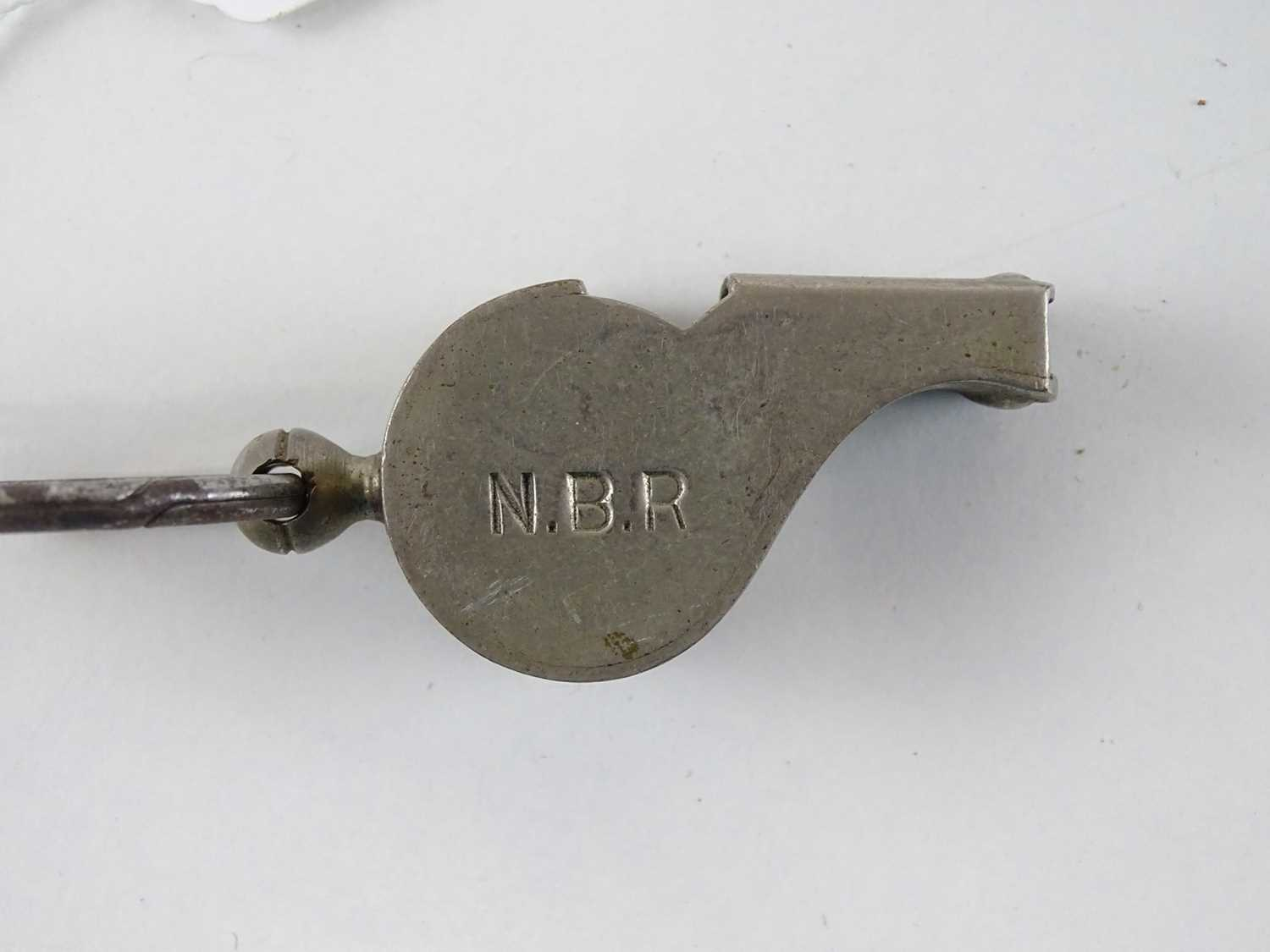 A Thunderer Patent nickel plated whistle - stamped for North British Railways - Image 2 of 3