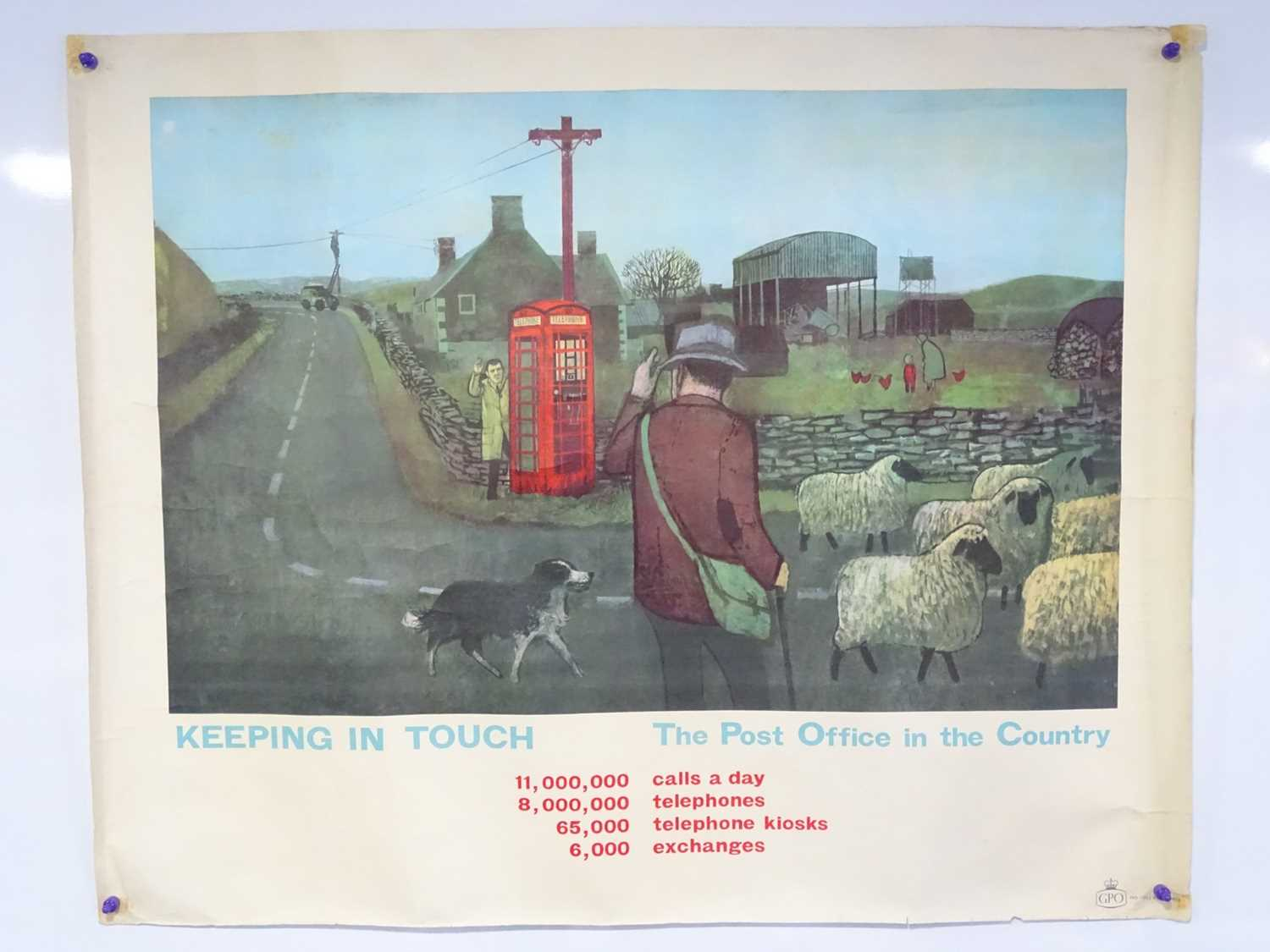 GPO (Post Office) circa 1962 - 'Keeping in Touch' - 'The Post Office in the Country' - Landscape