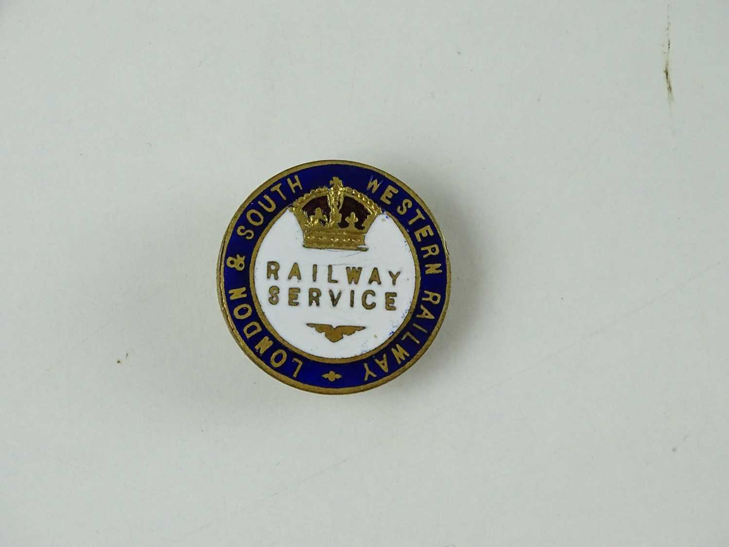 A London and South Western Railway WW1 Railway Service Badge - stamped to rear 'J A Wylie' -