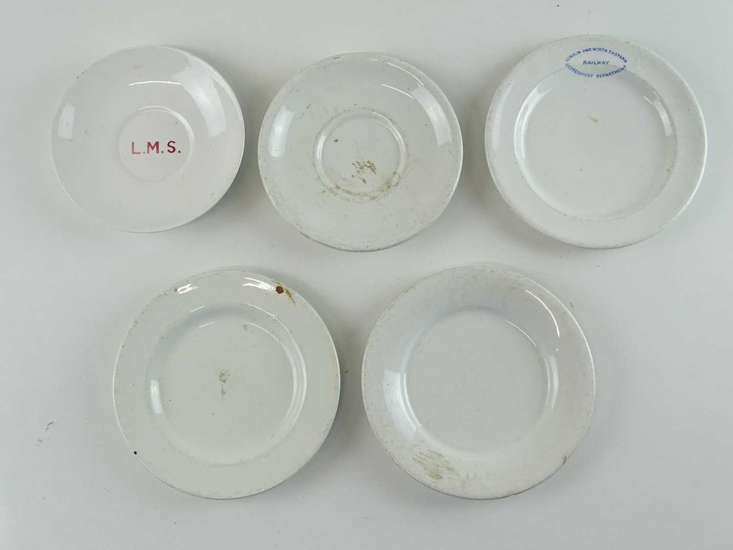 A selection of ceramic railways crockery items for LMS and LNER comprising saucers and plates (5) - Image 2 of 2