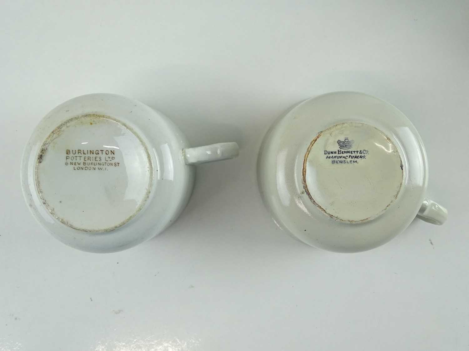 A group of early railway crockery items comprising 2 x L&NWR teapots (one marked Crewe), an LNWR - Image 6 of 8