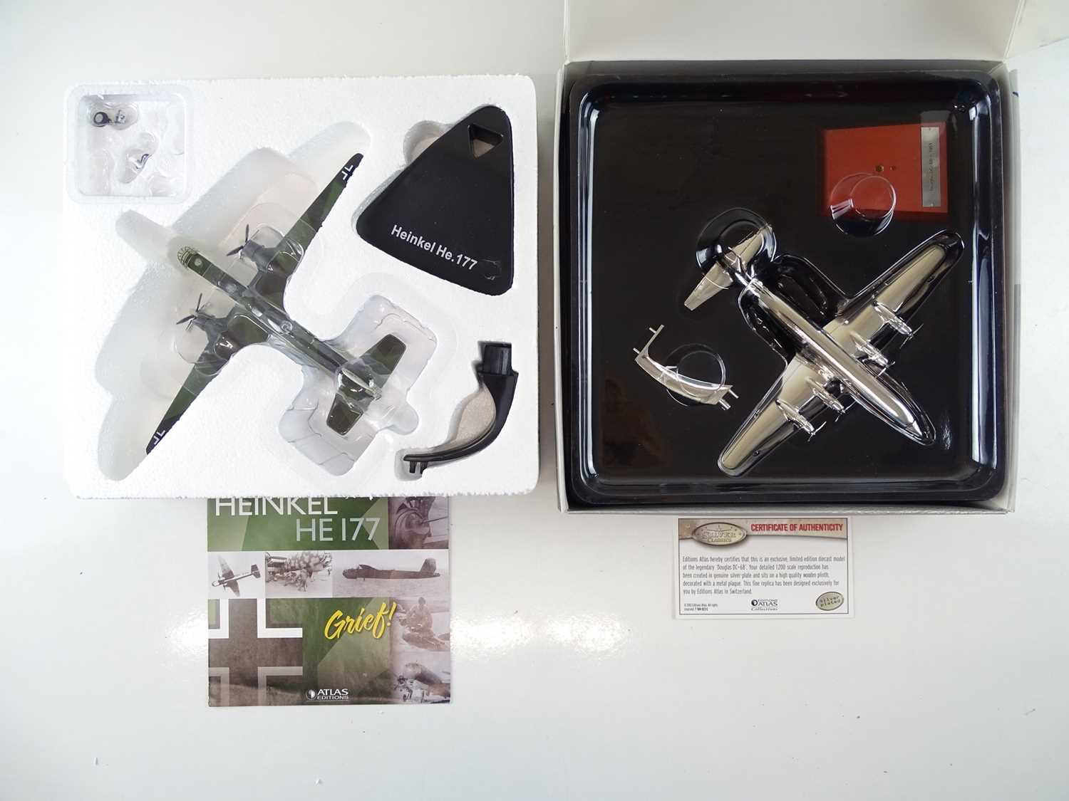 A group of ATLAS editions aircraft including silver plated examples from the Silver Classics range - - Image 6 of 10
