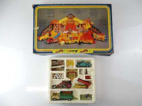 A pair of CORGI Giftsets comprising No. 5 Agricultural Set and No.48 'Pinder' Circus Set - F/G in