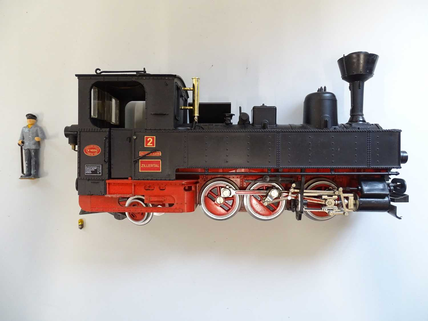 An LGB G Scale 2071D 0-6-2 steam tank locomotive in Zillertalbahn black livery numbered 2 - VG in - Image 2 of 4