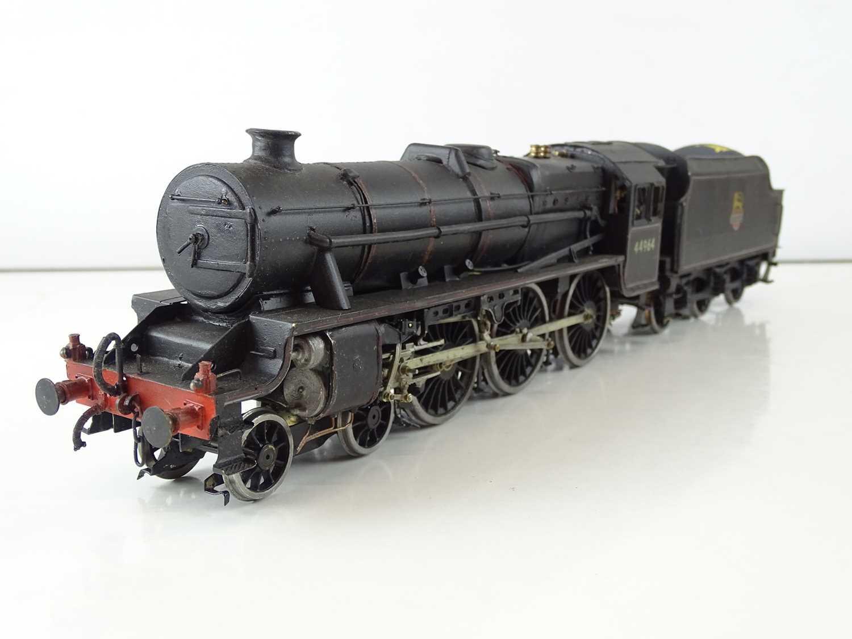 A kitbuilt O Gauge finescale Black 5 steam locomotive in BR black livery numbered 44964, vendor