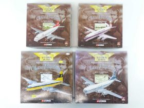 A group of CORGI AVIATION ARCHIVE 1:144 scale Classic Propliners Series Propellor Aircraft - VG in G