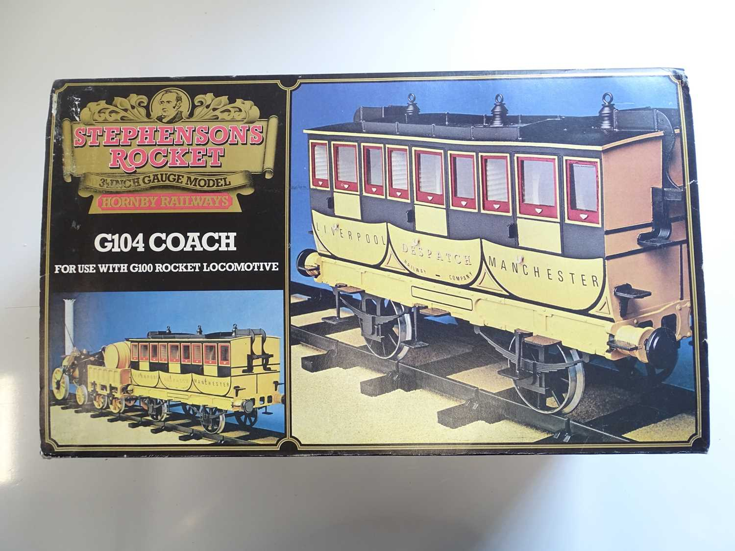 A Hornby 3.5 inch scale G104 coach as issued for the live steam Rocket - un-named with complete - Image 2 of 3