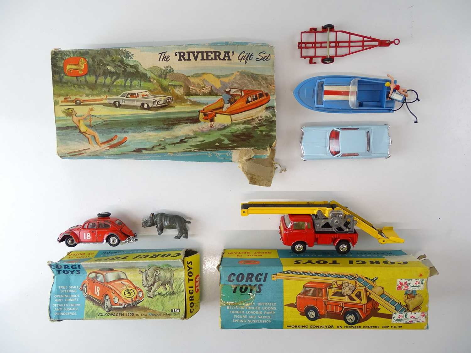 A group of CORGI Toys to include a Riviera Gift Set - F/G in P/F boxes (3)