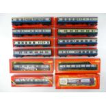 A group of TRI-ANG HORNBY OO Gauge Mark 1 coaches together with a R401 Operating Mail Coach set - VG