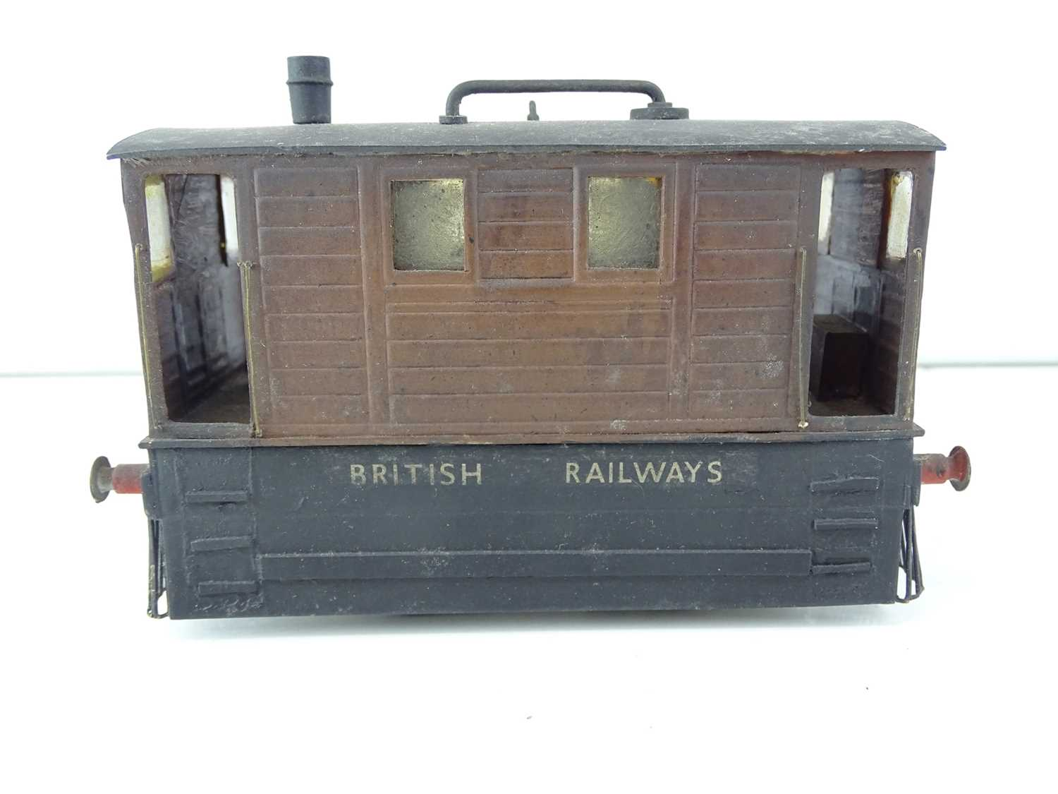 A kit/scratchbuilt O Gauge finescale ex-LNER class J70 Tram loco in weathered BR livery - G/VG - Image 2 of 5