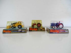 A group of DINKY tractors comprising 305, 308 and 437 - G/VG in G boxes (3)