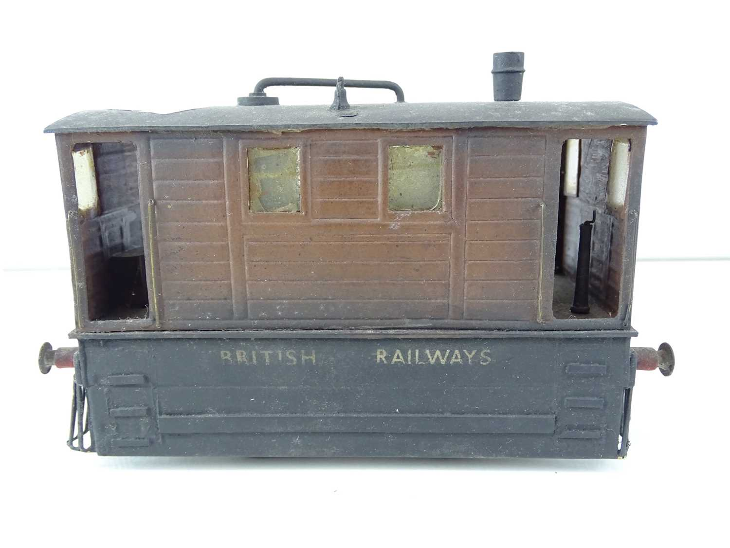A kit/scratchbuilt O Gauge finescale ex-LNER class J70 Tram loco in weathered BR livery - G/VG - Image 3 of 5