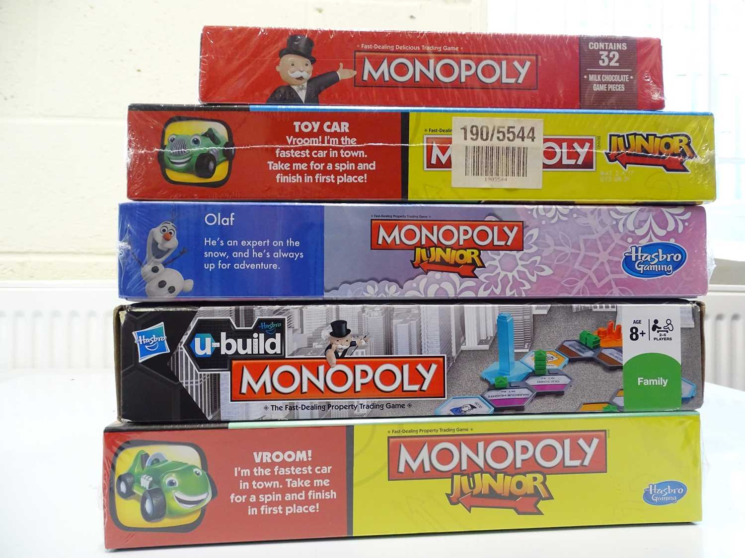 A group of Monopoly sets, all sealed as new, to include Junior and Chocolate editions (N.B. We