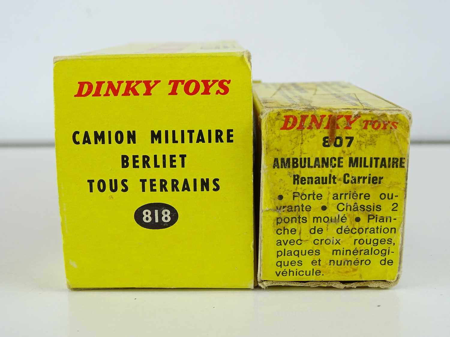 A pair of FRENCH DINKY military vehicles comprising an 807 Ambulance Militaire and an 818 Camion - Image 2 of 2