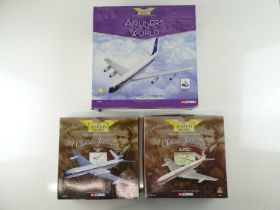 A group of CORGI AVIATION ARCHIVE 1:144 scale Classic Jetliners and Airliners of the World Series