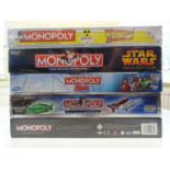 A group of Monopoly sets, all sealed as new, to include Film and TV editions - VG/E in VG boxes (5)