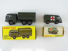 A pair of FRENCH DINKY military vehicles comprising an 807 Ambulance Militaire and an 818 Camion